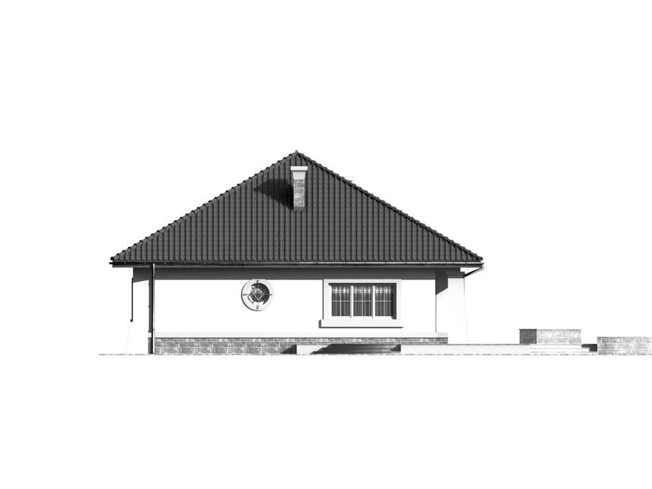 Dom przy Makowej - elewacja lewa