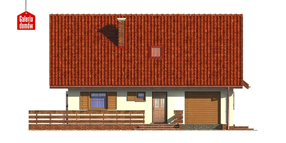 Dom przy Malinowej - elewacja prawa