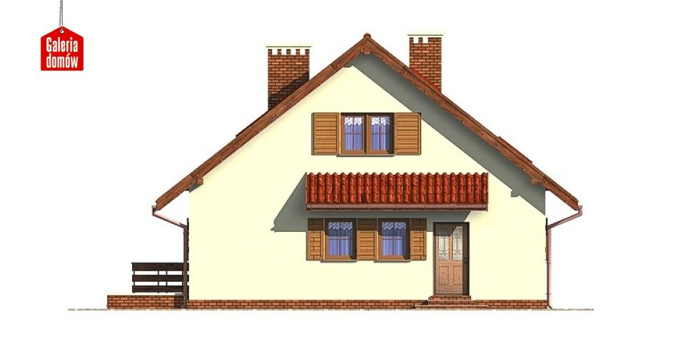 Dom przy Malinowej - elewacja tylna
