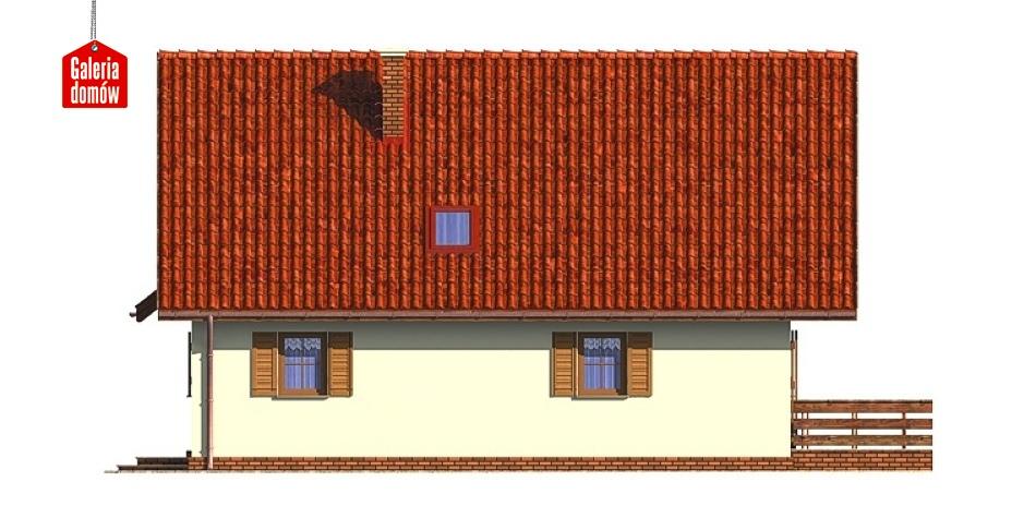 Dom przy Malinowej - elewacja lewa