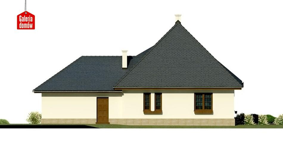 Dom przy Malowniczej 2 - elewacja tylna