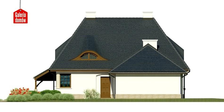 Dom przy Malowniczej 3 NF40 - elewacja prawa
