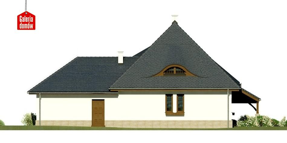 Dom przy Malowniczej 3 NF40 - elewacja tylna