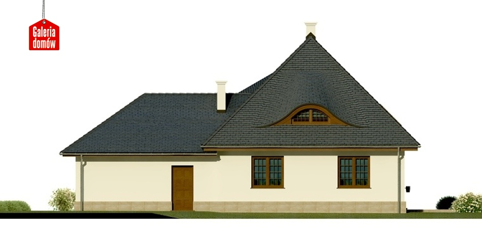 Dom przy Malowniczej - elewacja tylna
