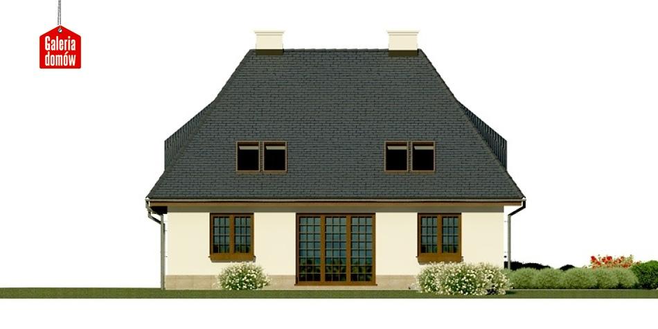 Dom przy Malowniczej - elewacja lewa