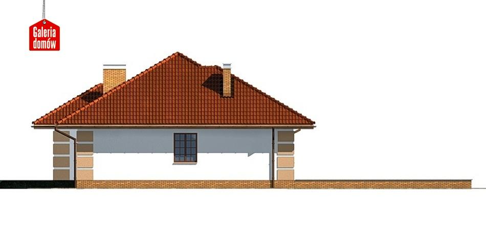 Dom przy Marcepanowej - elewacja frontowa