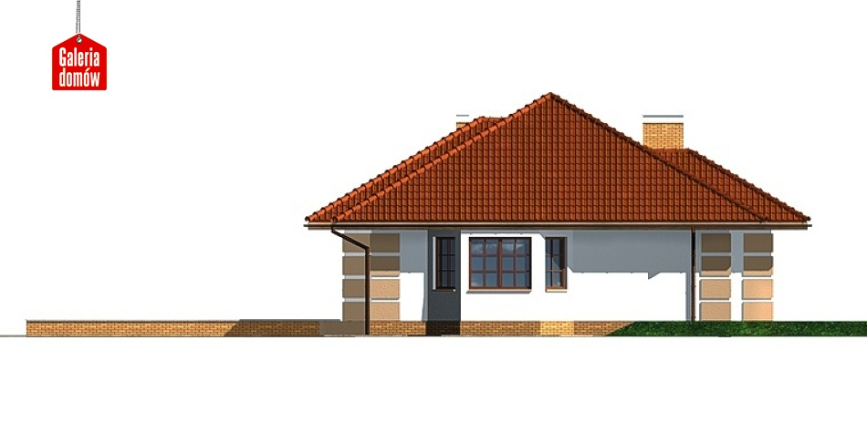 Dom przy Marcepanowej - elewacja tylna