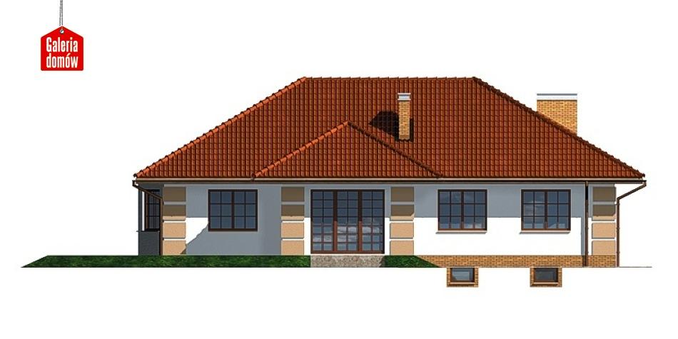 Dom przy Marcepanowej - elewacja lewa