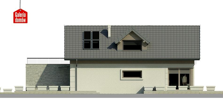 Dom przy Migdałowej 2 - elewacja prawa