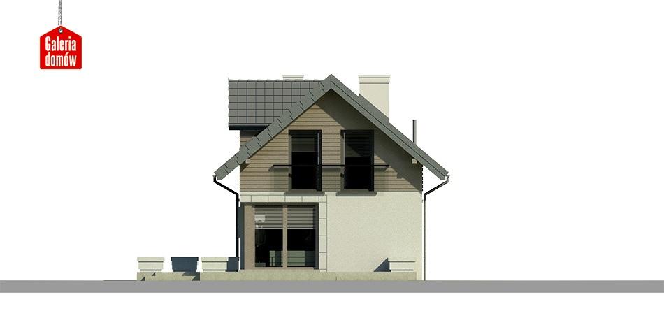 Dom przy Migdałowej 2 - elewacja tylna