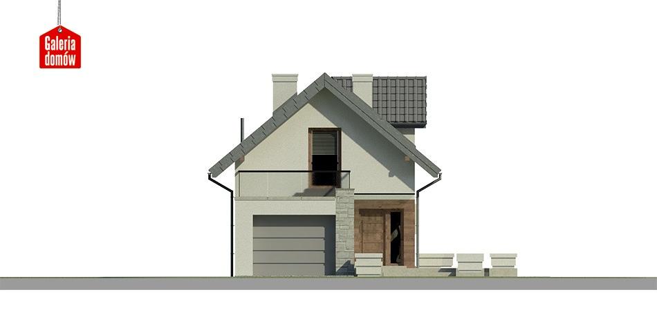 Dom przy Migdałowej 3 - elewacja frontowa