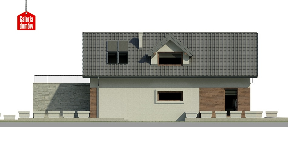 Dom przy Migdałowej 3 - elewacja prawa