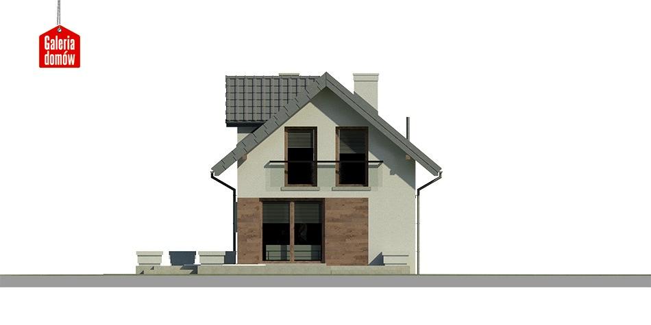 Dom przy Migdałowej 3 - elewacja tylna
