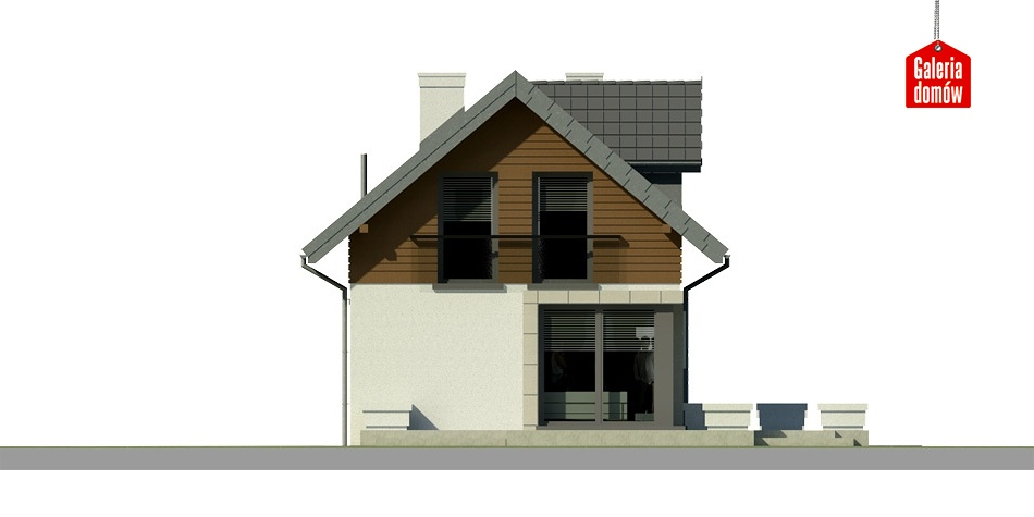 Dom przy Migdałowej - elewacja tylna