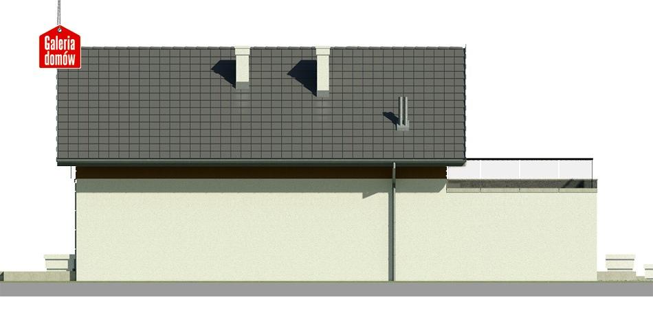 Dom przy Migdałowej - elewacja lewa