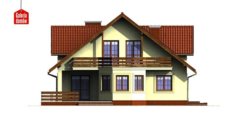 Dom przy Miodowej - elewacja frontowa