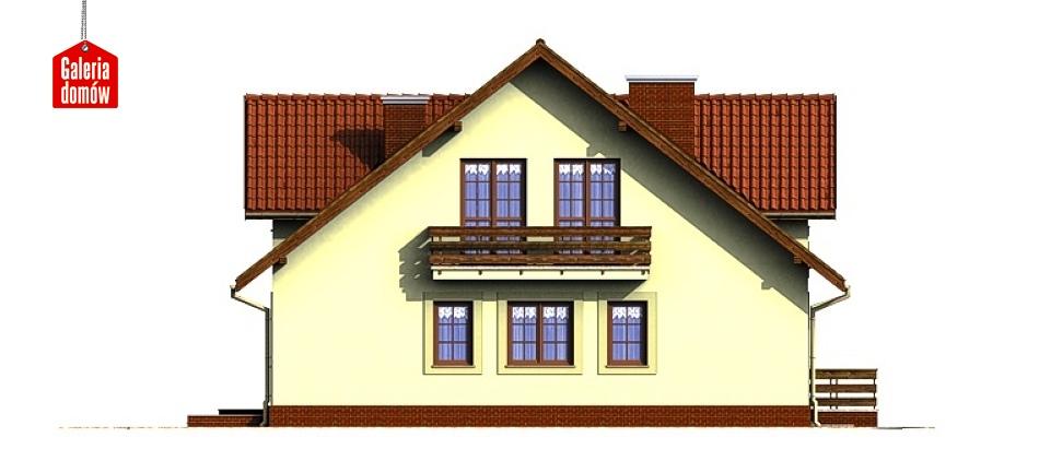 Dom przy Miodowej - elewacja tylna