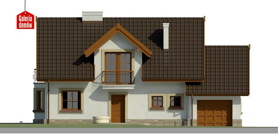 Dom przy Modrzewiowej 11 - elewacja frontowa
