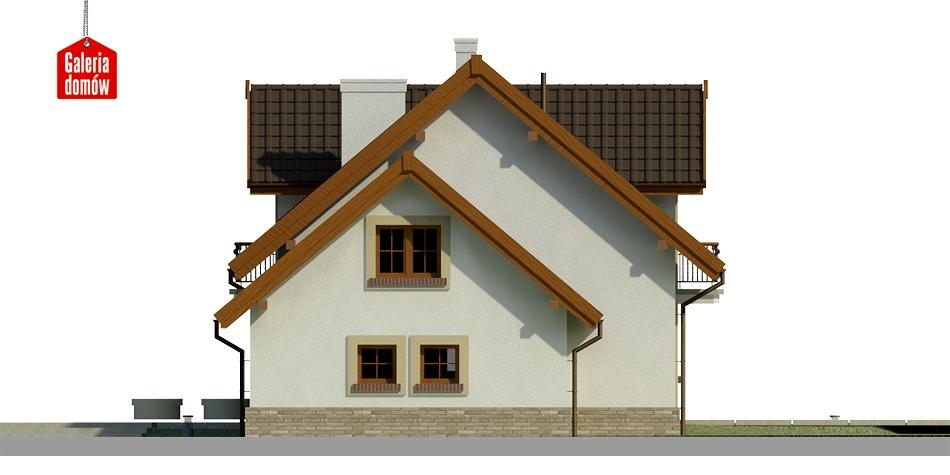 Dom przy Modrzewiowej 11 - elewacja prawa