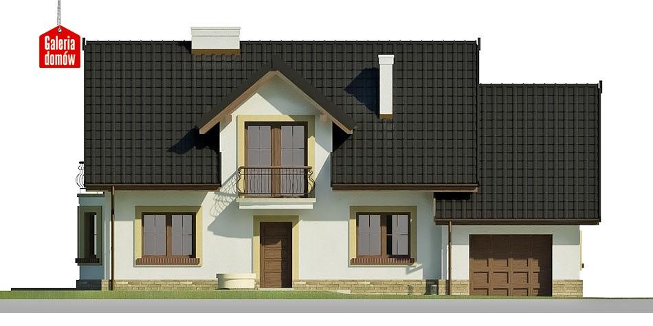 Dom przy Modrzewiowej 12 - elewacja frontowa