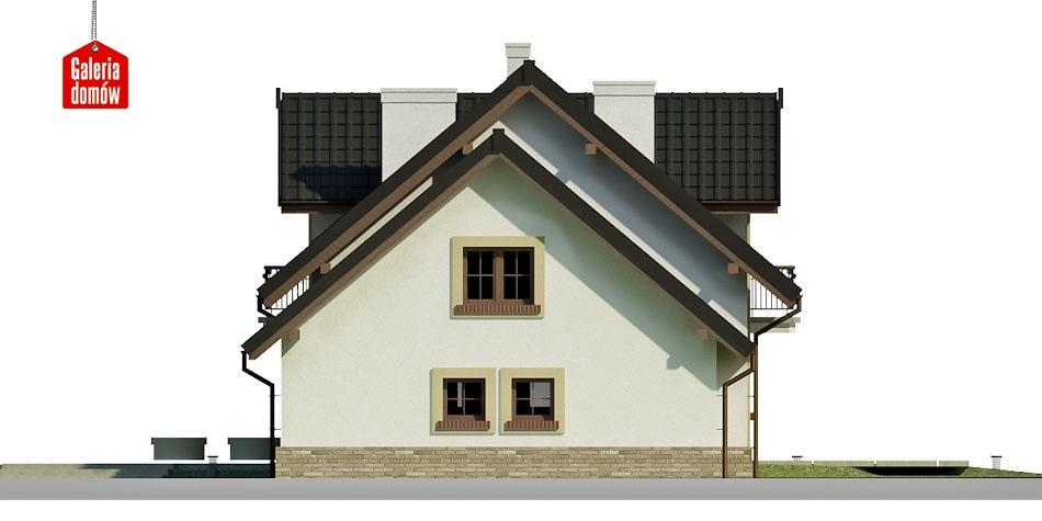 Dom przy Modrzewiowej 12 - elewacja prawa