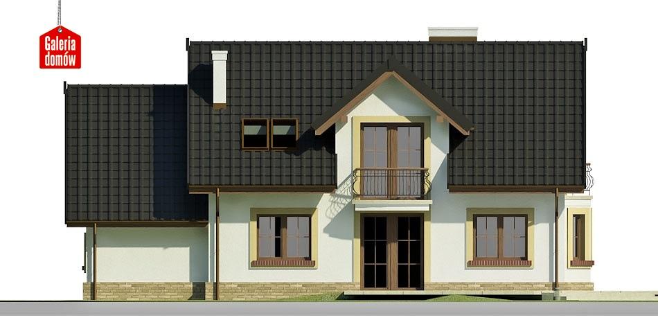 Dom przy Modrzewiowej 12 - elewacja tylna