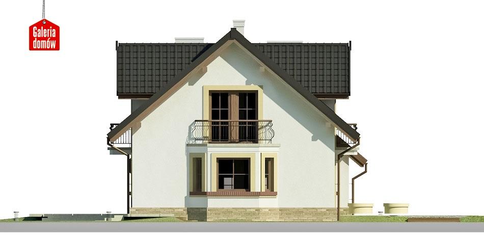 Dom przy Modrzewiowej 12 - elewacja lewa