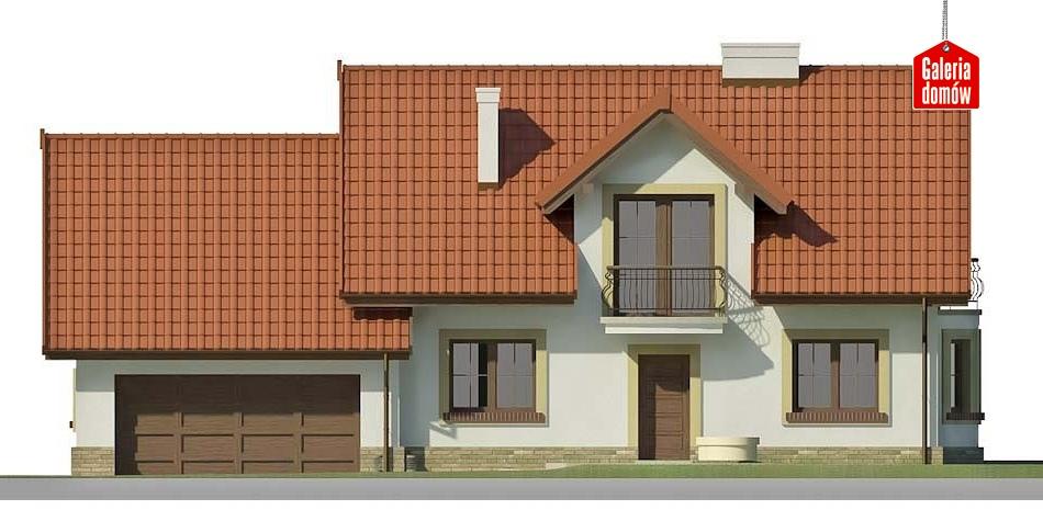 Dom przy Modrzewiowej 14 - elewacja frontowa