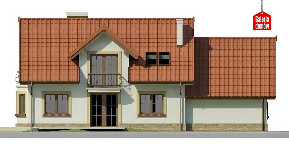Dom przy Modrzewiowej 14 - elewacja tylna