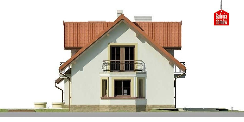 Dom przy Modrzewiowej 14 - elewacja lewa