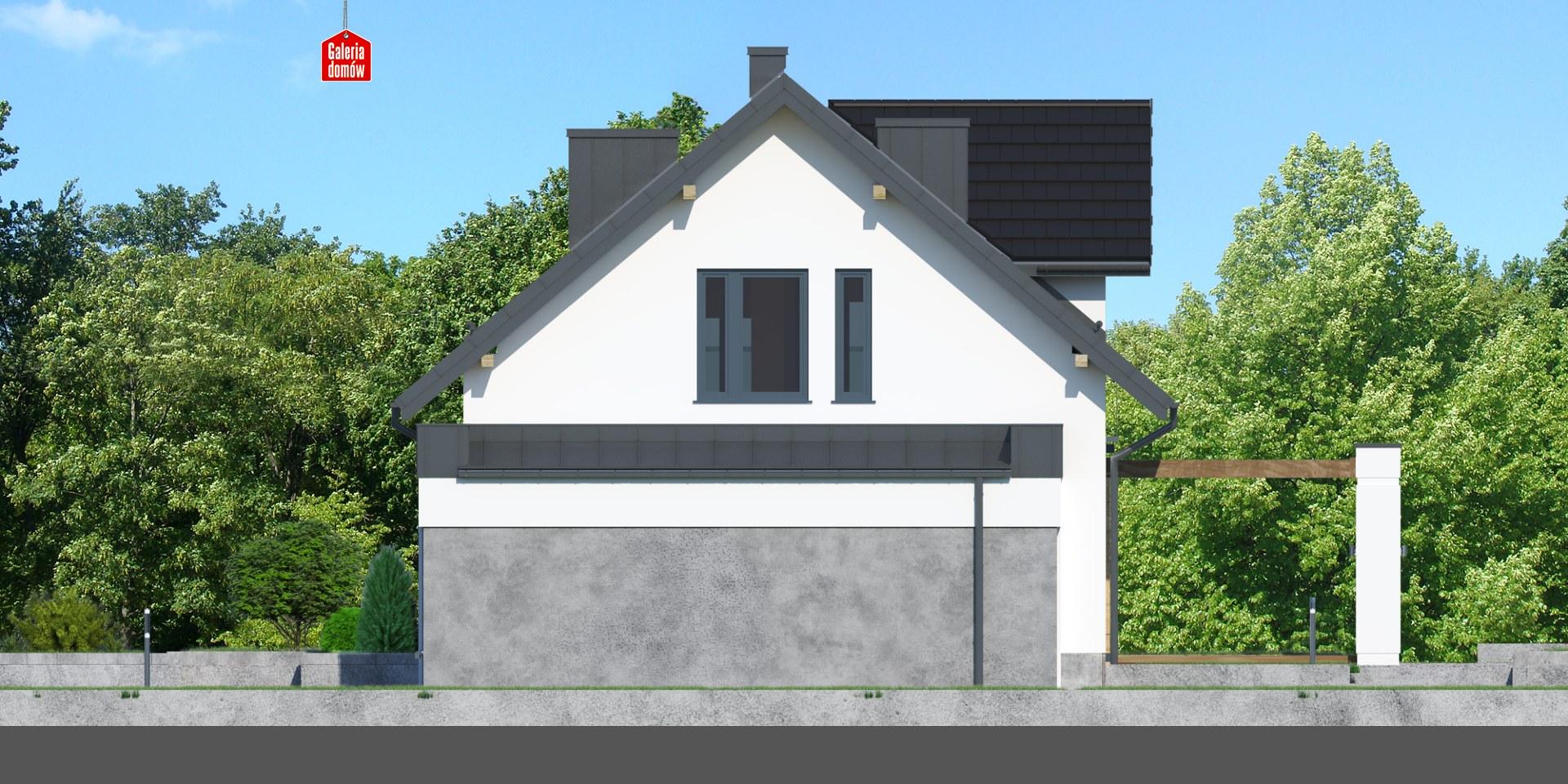 Dom przy Modrzewiowej 15 - elewacja prawa
