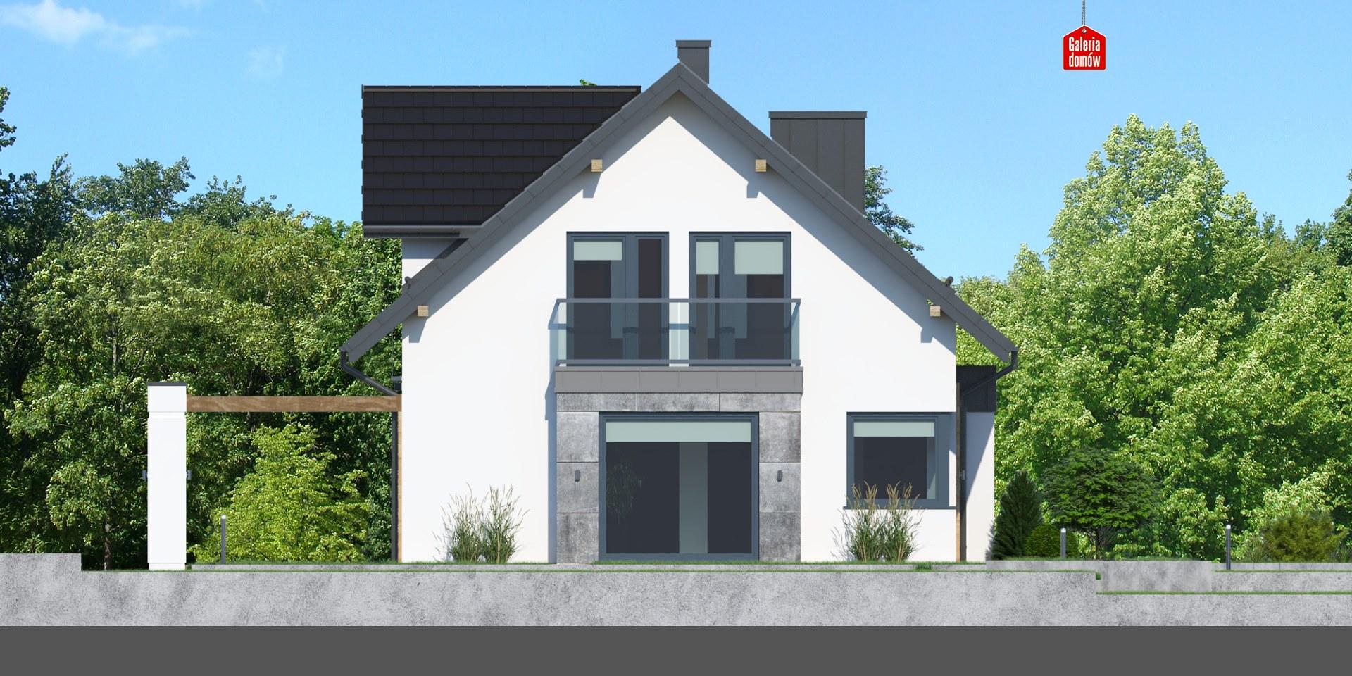 Dom przy Modrzewiowej 15 - elewacja lewa