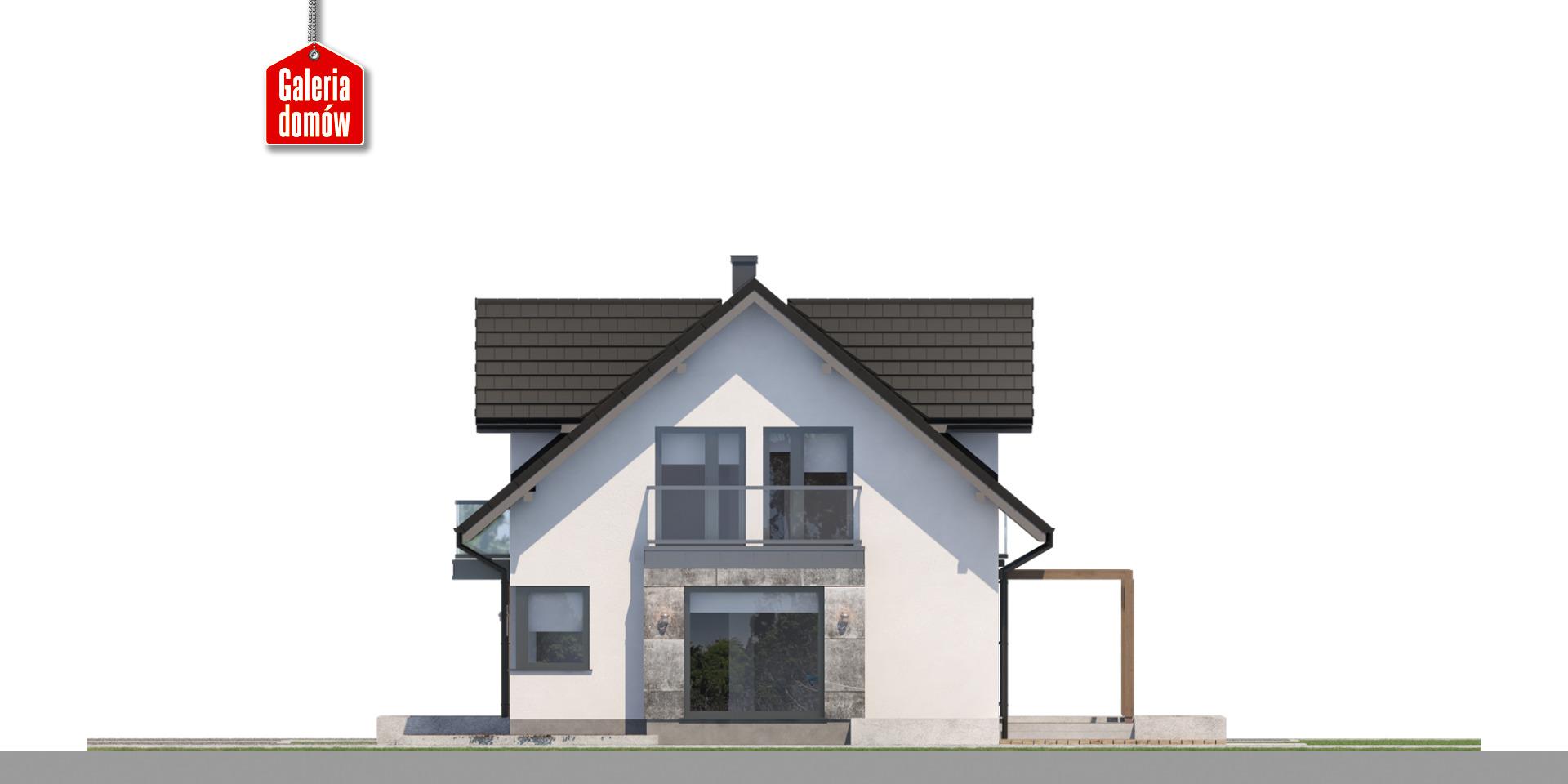 Dom przy Modrzewiowej 19 - elewacja prawa