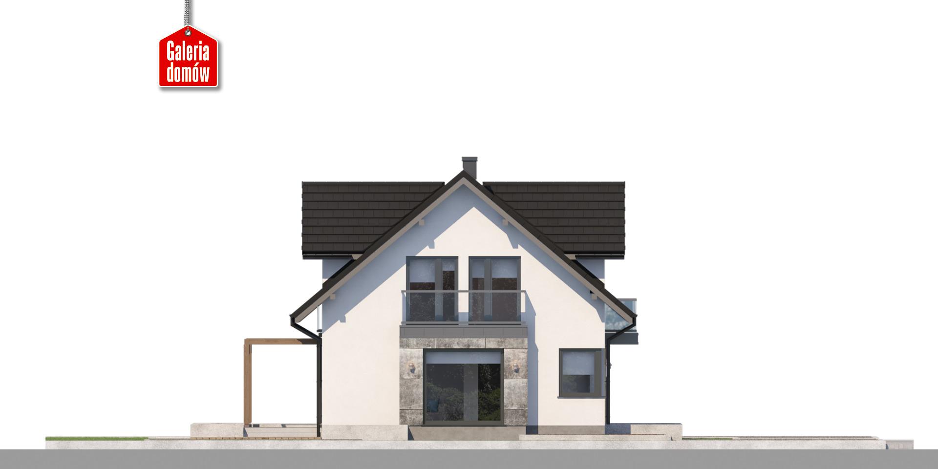 Dom przy Modrzewiowej 19 - elewacja lewa