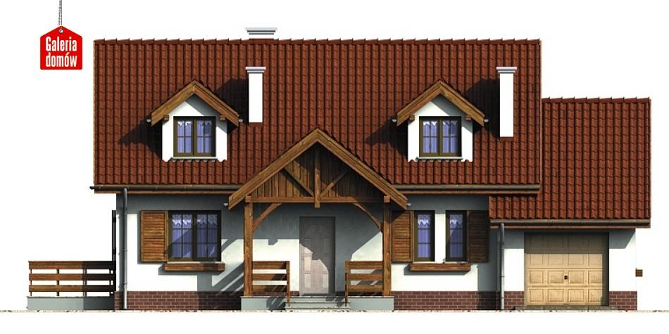 Dom przy Modrzewiowej 2 - elewacja frontowa
