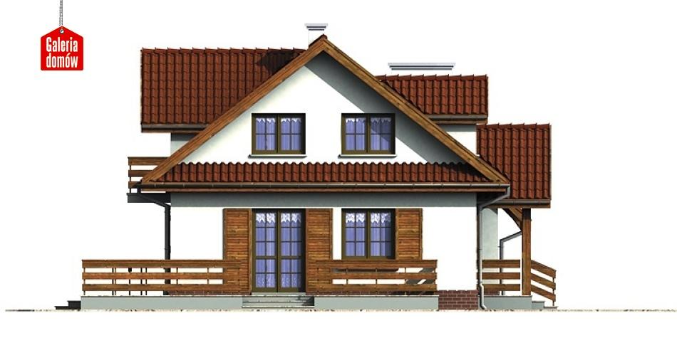 Dom przy Modrzewiowej 2 - elewacja lewa