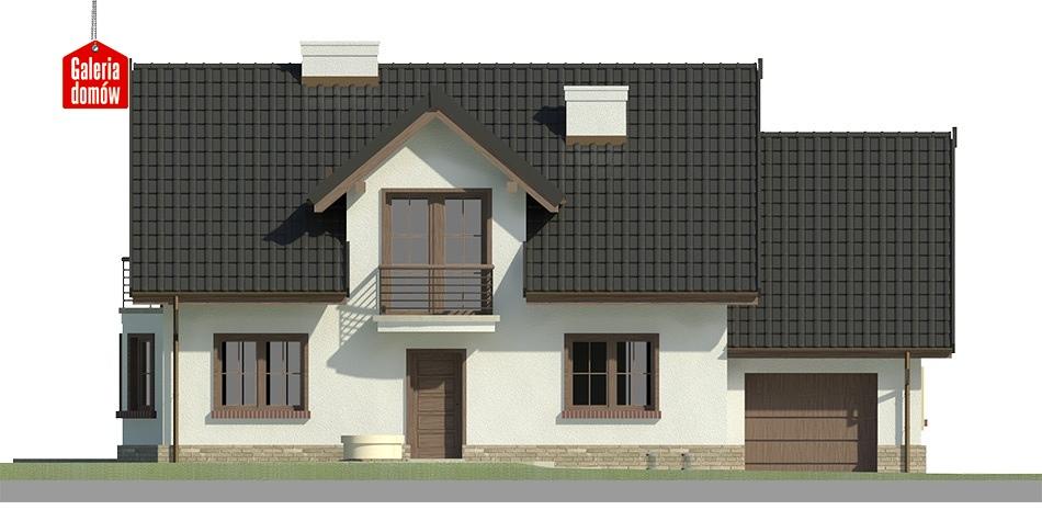 Dom przy Modrzewiowej 3 - elewacja frontowa