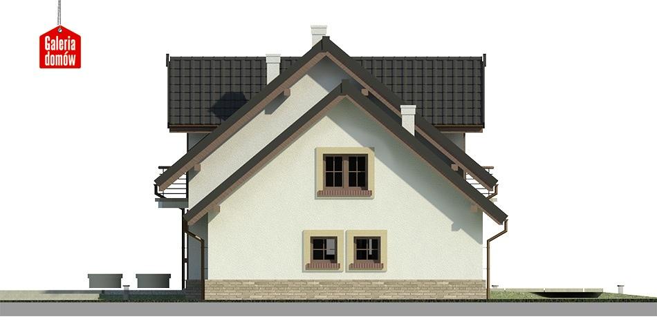 Dom przy Modrzewiowej 3 - elewacja prawa