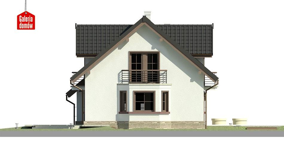 Dom przy Modrzewiowej 3 - elewacja lewa