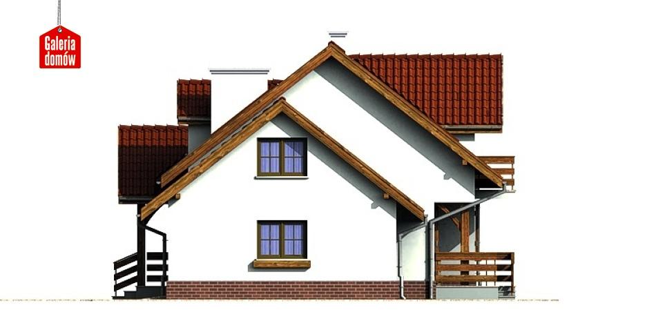 Dom przy Modrzewiowej - elewacja prawa