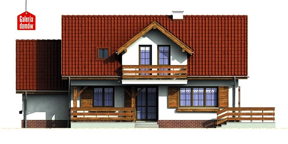 Dom przy Modrzewiowej - elewacja tylna