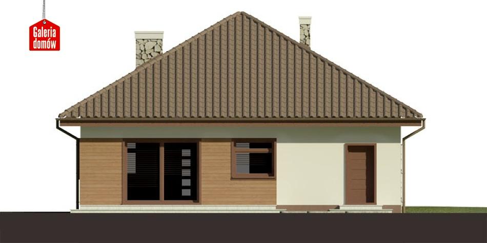 Dom przy Niezapominajek 2 - elewacja tylna