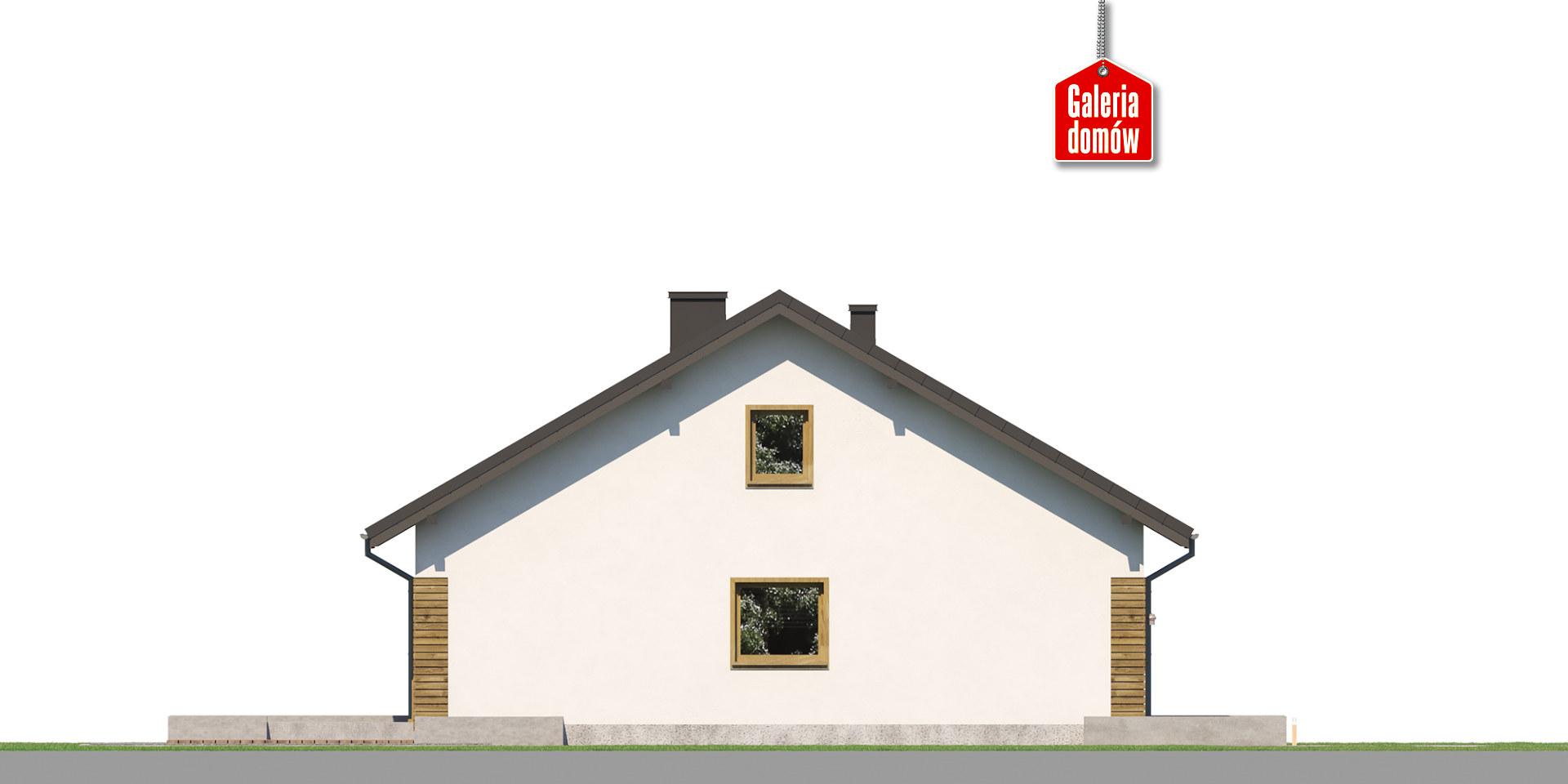 Dom przy Niezapominajek 5 - elewacja prawa