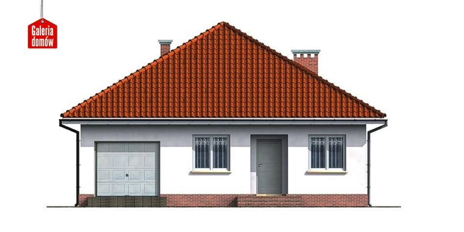 Dom przy Niezapominajek - elewacja frontowa