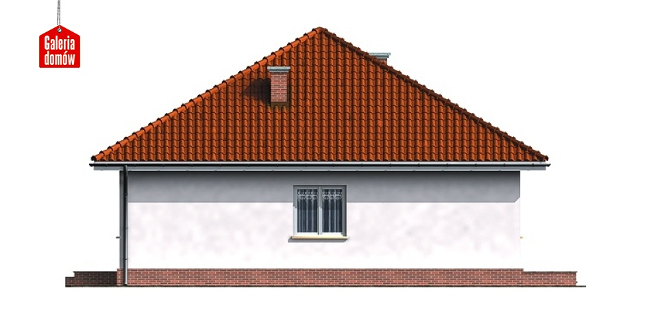 Dom przy Niezapominajek - elewacja prawa