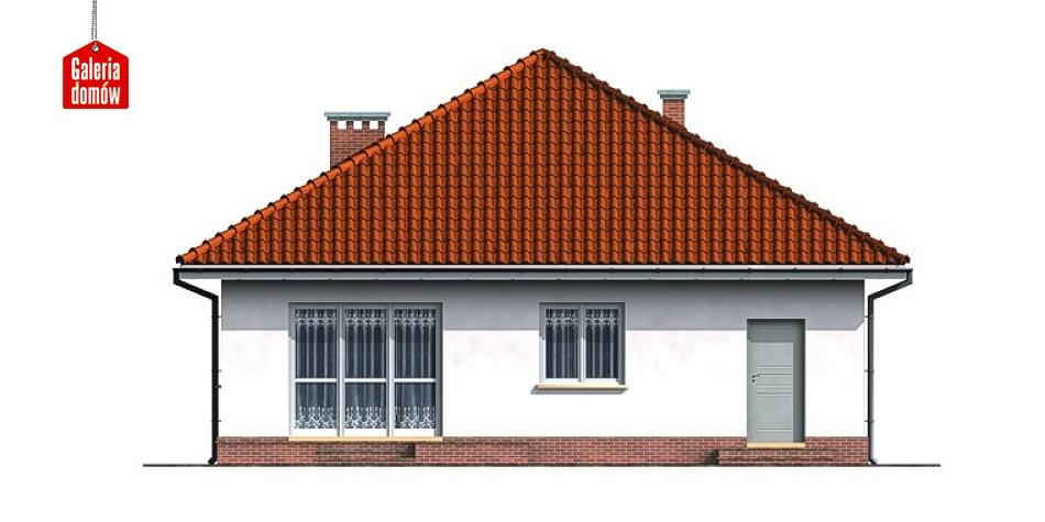 Dom przy Niezapominajek - elewacja tylna