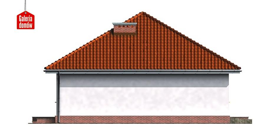 Dom przy Niezapominajek - elewacja lewa