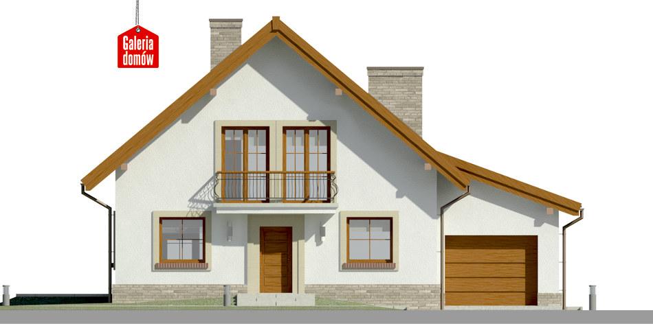 Dom przy Oliwkowej 2 H - elewacja frontowa