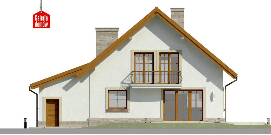 Dom przy Oliwkowej 2 H - elewacja tylna