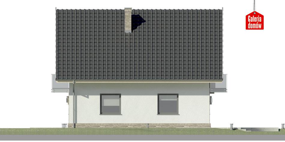 Dom przy Oliwkowej 2 NH - elewacja lewa